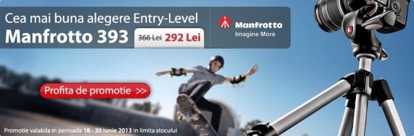 Trepiedul Manfrotto 393-H