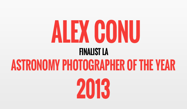Alex Conu, finalist la Astronomy Photographer of the Year