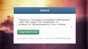 Instagram embedding