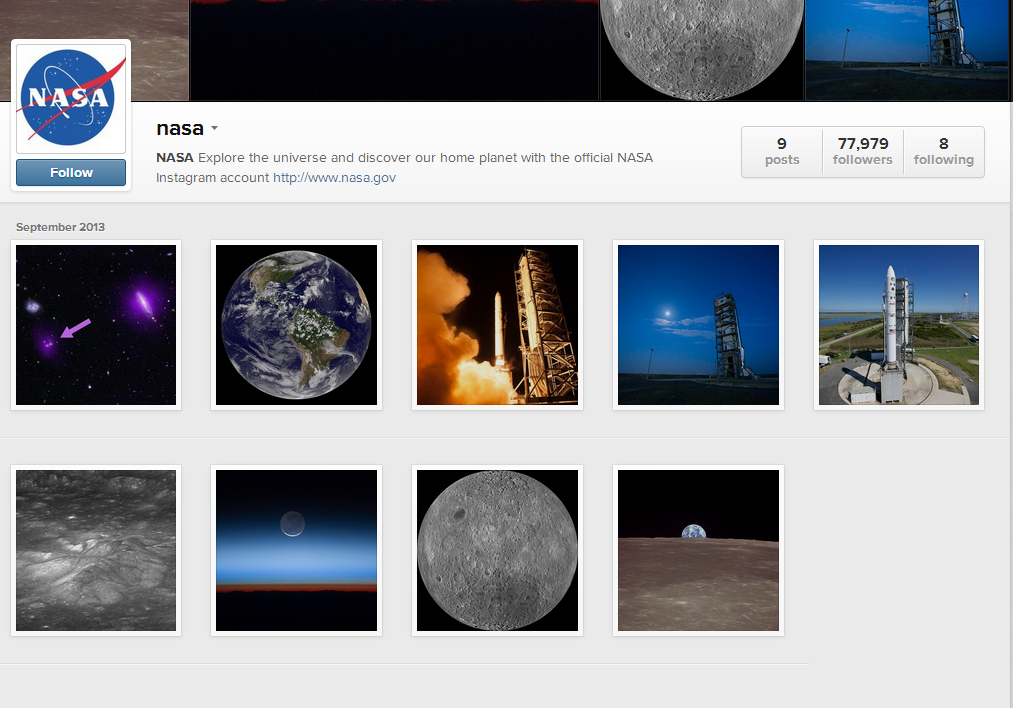 NASA pe Instagram