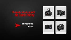 Aparate foto de urmărit de Black Friday