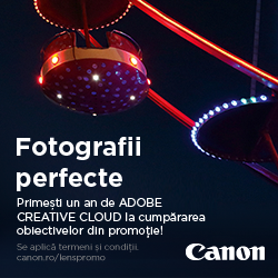 Primești un an de Adobe Creative Cloud la obiectivele Canon